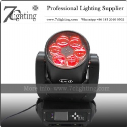 6x40W Beam Moving Head Zoom Wash