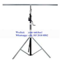 4.5M Winch Light Stand - Round Bar